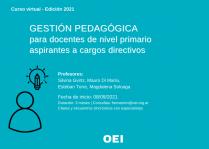 Gestión pedagógica para docentes de nivel primario aspirantes a cargos directivos